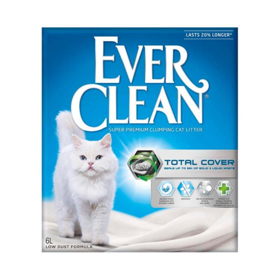 Ever Clean Super Premium Clumping Cat Litter Total Cover New Hygiene Plus Product Front Image